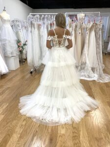 lace over skirt for wedding dress