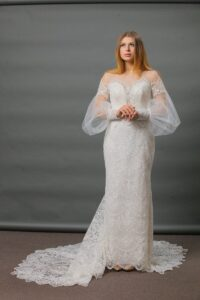 Lace Mermaid Wedding dress with sleeves