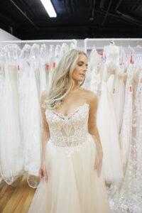 illusion bodice wedding dress