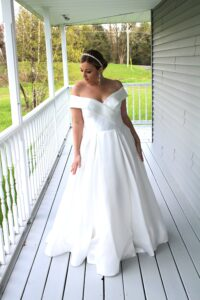 mikado wedding dress