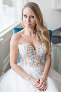 illusion bodice wedding dress