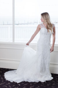 lace fit & flare wedding dresses