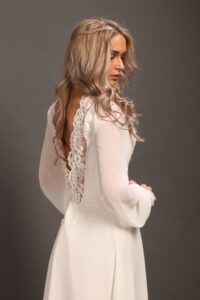 Open back wedding dress Svetlana Bridal NY