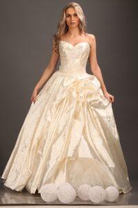 taffeta ball gown wedding dress