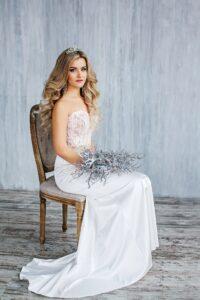 lace strapless mermaid wedding dress