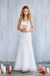 lace trumpet wedding dress by svetlana bridal