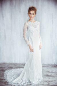 long sleeve lace wedding dress by svetlana bridal