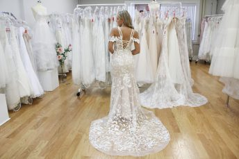 illusion back wedding gowns